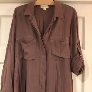 Anthropologie Cloth & Stone Brown Blouse